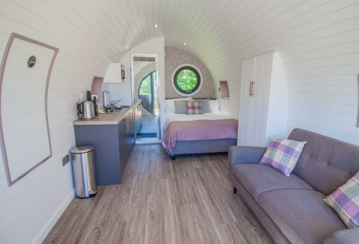 Double Glamping Pod at High Oaks Grange